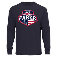 UFC Urijah Faber Country Crest Long Sleeve T-Shirt - Navy Blue - http://www.shareasale.com/m-pr.cfm?merchantID=7124&userID=1042934&productID=548210258 / UFC
