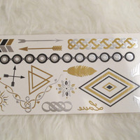 CheriTatts #18 -metallic tattoos, flash tattoos, gold tattoos, silver tattoos, temporary tattoos, jewelry tattoos, shiny tattoos, new trend