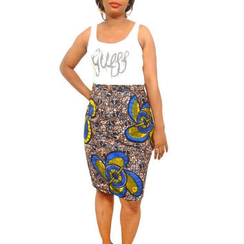 XMAS SALE - African Skirt - African Print Pencil Skirt - Ankara Skirt