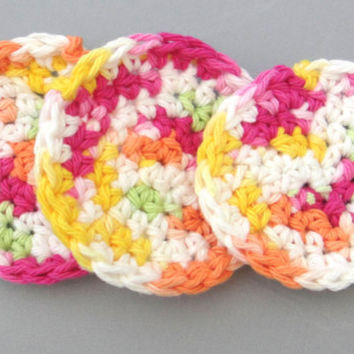 Face Scrubbies Crochet Wash Cloth Set of 3