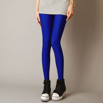 Womens Tops Fashion 2015 Sexy Legging Lots Of Candy Color Neon Leggings Adventure Time Skinny Elastic Pants Hot Sale HDDK0021