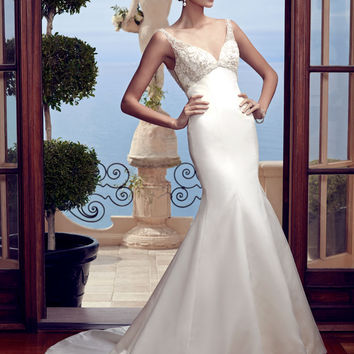 Casablanca Bridal 2193 Tank Satin A-Line Wedding Dress