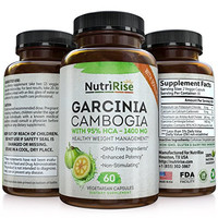 95% HCA Pure Garcinia Cambogia Extract - Highest Potency For Fat Burn & Weight Loss - Natural Clinically Proven Appetite Suppressant. Best Carb Blocker & Fat Burner - 60 Diet Pills. Made in USA