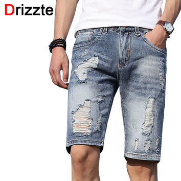 Men Shorts Lightweight Denim Distress Ripped Jeans Short for Men Jean Shorts Pants