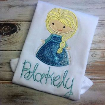 Frozen shirt- Elsa- Ice princess- frozen shirt