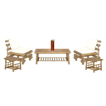 Payang 6-piece Bamboo Outdoor Patio Set (Vietnam)   Overstock.com Shopping - The Best Deals on Patio Chairs