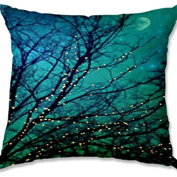 Decorative Outdoor Patio Couch Throw Pillows from DiaNoche Designs BBQ Garden Outdoor Ideas by Sylvia Cook Unique - Magical Night