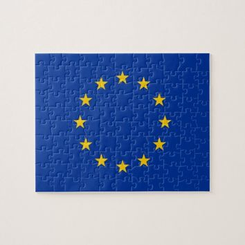 Puzzle with Flag of European Union