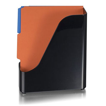 Officemate 2200 Series Executive Plastic Magazine File, Black (22352)