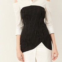 Iris Stripe Cold Shoulder Dress Discover the latest fashion trends online at storets.com