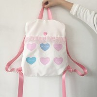 Soft Girl's Heart Backpack from MILK CLUB