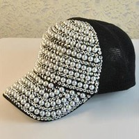 Beaded And Bejewelled Cap from OASAP