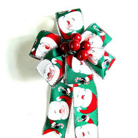 Small Christmas gift bow, Gift wrap bow, Holiday decoration, Christmas tree bow, Winter celebration, Holiday accent, Christmas decor (C356)