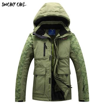 High Quality Mens Winter Sport Snow Padded Snowboarding Coat OutdoorWaterproof Windproof And  Ice Waterproof Parka 330