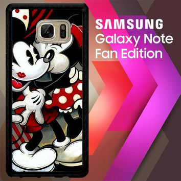 Hugs And Kisses  Mickey Minnie Mouse Z1557 Samsung Galaxy Note FE Fan Edition Case