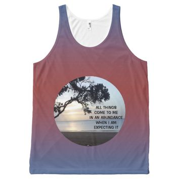 Abundance Photo Quote by Kat Worth Men's All-Over-Print Tank Top