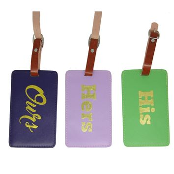 Luggage Tag Set: His Hers Ours