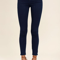 Go On Dark Wash High-Waisted Skinny Jeans