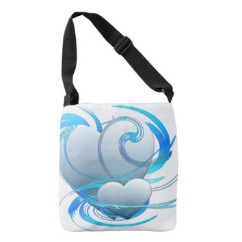 Swirl Hearts Tote Bag