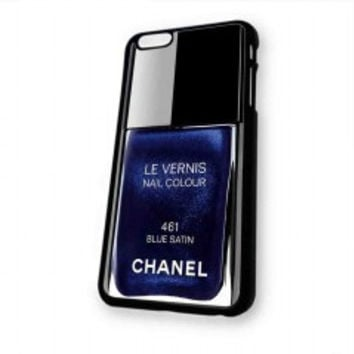 Chanel Nail Polish Blue Satin for iphone 6 case