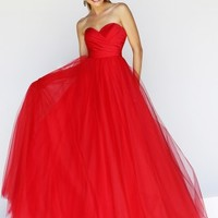 Ball Gown Sweetheart Sleeveless Tulle Sweep/Brush Train Dresses - Prom Dresses 2015 - Prom Dresses - Sweet Dressy