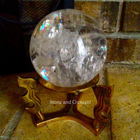Quartz Sphere- Scrying Ball with stand