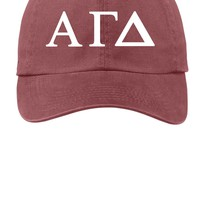 AGD / Alpha Gamma Delta / Choose Your Colors / Sorority Cap