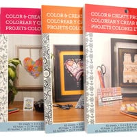 DCWV Color Create Projects Set of 4 Books Cardstock Butterflies Blossoms Birds