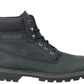 "Caterpillar Mens 6"" Soft Toe Boots Watershed Waterproof Black P717962"