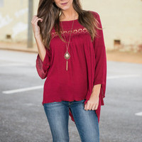 Romantic Reality Blouse, Wine