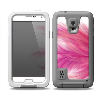 The Abstract Pink Flowing Feather Skin Samsung Galaxy S5 frē LifeProof Case
