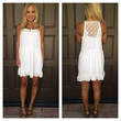 Always And Forever Lace Back Dress - WHITE