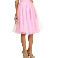 Promo-pink Tulle Darling Party Skirt