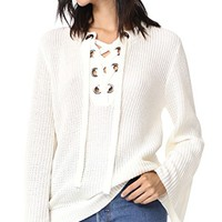 Lace Up Belle Sweater