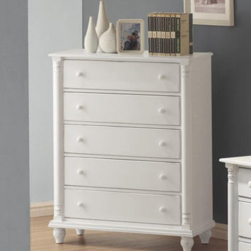 Coaster Fine Furniture Chest Distressed White 201185