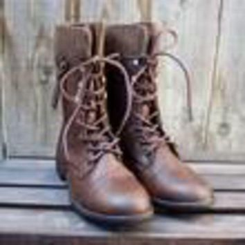 ac NOVQ2A FINAL SALE - the brown combat sweater boots