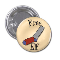 Free Elf Button Badge Harry Potter 1 1/2 inch button