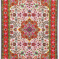3045 Ivory Colorful Isfahan Oriental Area Rugs