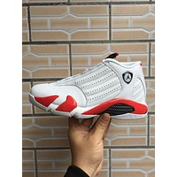 Air Jordan 14 Retro White/red Sneaker Shoe Us 7 12 | Best Deal Online