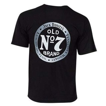 Jack Daniel's Men's Black Old 7 Tee Shirt