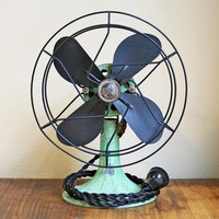 Vintage Mint Green Fan