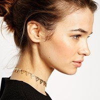 ASOS Cutout Triangle Choker Necklace