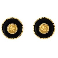 Chanel Vintage Clover Clip-on Earrings - Katheleys Vintage - Farfetch.com