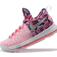 """Nike  Zoom  KD 9 Kevin Durant  Ⅸ """"Breast Cancer"""" Men's    Basketball Shoes"""