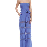 Appleton Strapless Tiered Jumpsuit, Size: