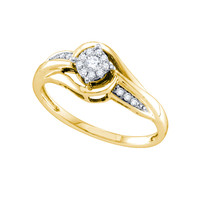 Diamond Fashion Ring in 14k Gold 0.15 ctw