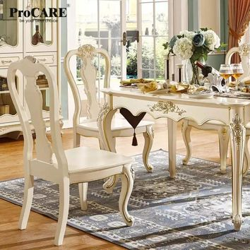 luxury European and American style furniture dining room furniture set marble square