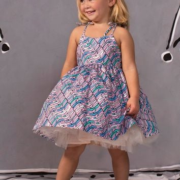 Disney by Tutu Couture Cinderella Chambray Romantic Casual Girls Party Dress