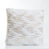 White/Gold Rains Pillow-Etre Collection