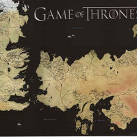 Game of Thrones Map Poster 24x36